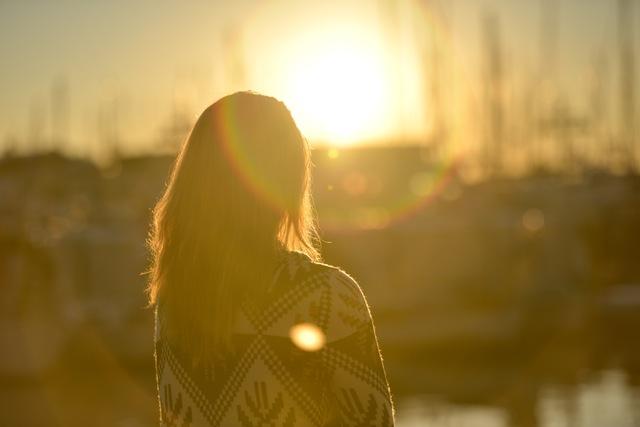 sunset-woman